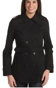 Fred Perry Leather Amy Winehouse Double Breasted Cropped Rare Trench Coat
