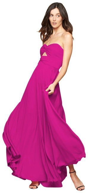 Item - Magenta/ Pink Twist Mckenzie Gown Long Cocktail Dress Size 6 (S)