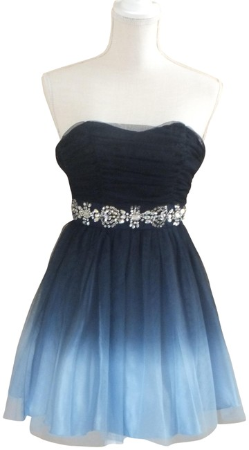 Item - Blue Ombre Navy Homecoming Prom Cocktail Short Formal Dress Size 4 (S)