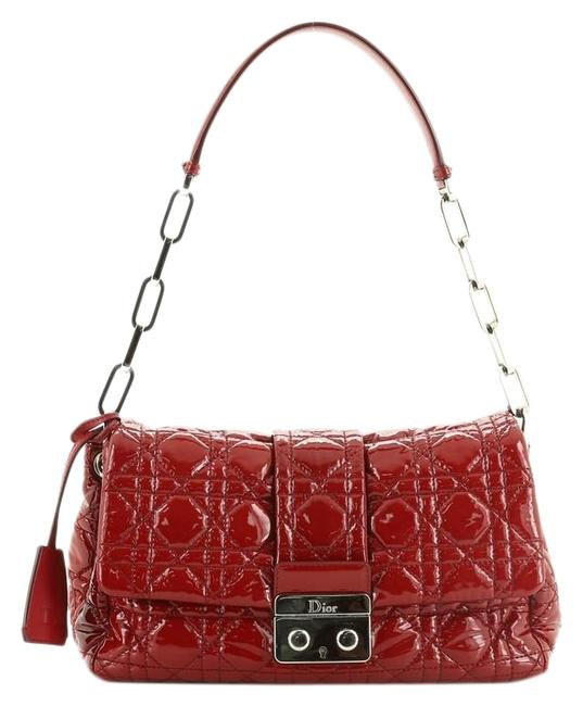 Item - Flap Bag New Lock Cannage Quilt Patent Small Red Leather Baguette