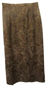 Coldwater Creek Skirt brown multi paisley