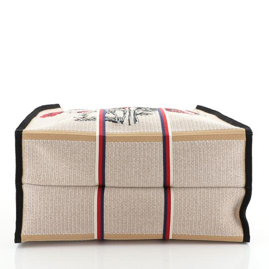 Gucci Canvas Tote in Multicolor, Neutral, Red Image 3