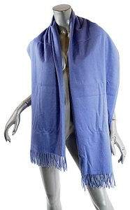 Hermes HERMES Paris Chambray BLUE Cashmere BRODERIE Wrap Shawl Scarf