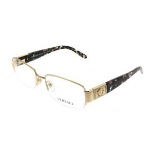 Versace Versace Eyeglasses VE1175B 1002 Gold Metal Rectangle RX Eyeglasses