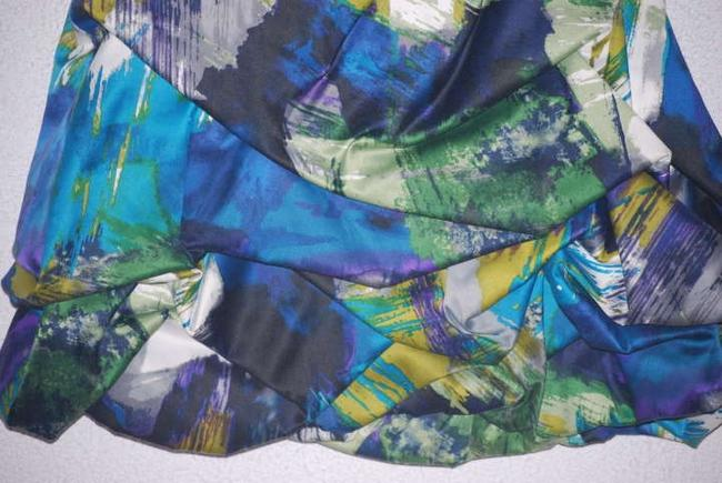Teeze Me short dress Multi Bubble Prom Cocktail Teal Purple White Gray Layered on Tradesy