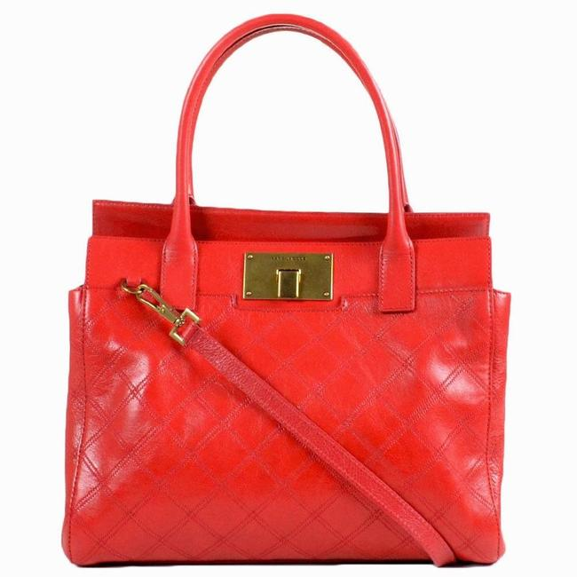 Item - Buddy Quilted Flame Red Leather Satchel
