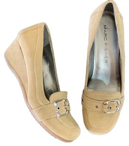 Marc Fisher Suede Loafer Tan Wedges