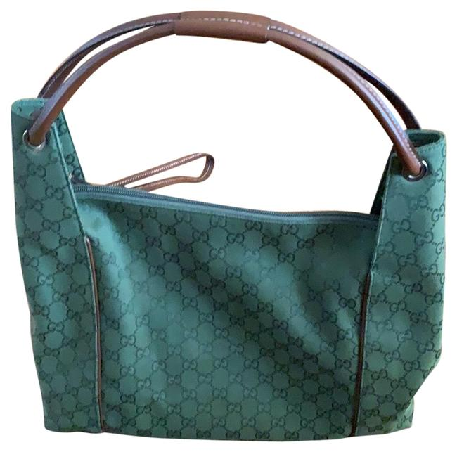 Item - Monogram Green Canvas and Leather Hobo Bag