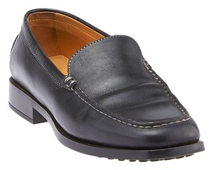 Tod's Leather Loafers Black Mules