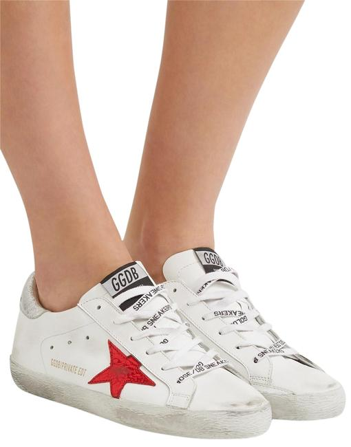 Item - White Red Silver New Low Top Trainers Star Sneakers Size EU 38 (Approx. US 8) Regular (M, B)