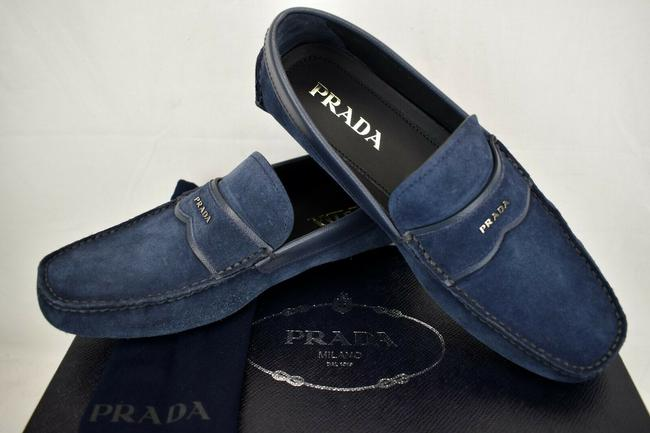 Item - Blue 2dd137 Navy Suede Leather Logo Driving Moccasins Loafers 11 Us 12 Shoes