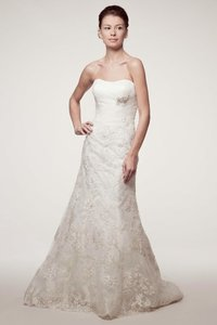 Kari Chang Eternal Diamond White Chiffon / Lace Applique Kcw1549 Mermaid Feminine Wedding Dress Size 2 (XS)