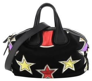 Givenchy Suede Satchel in Print, Black
