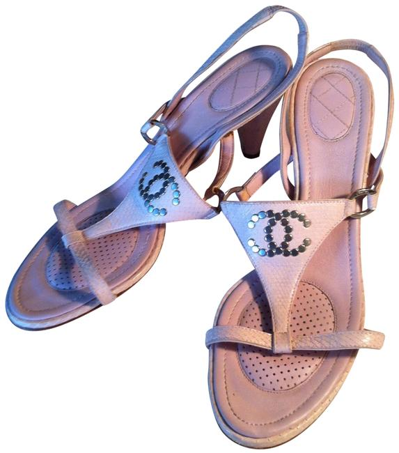 Chanel Light Pink Italy Sandals Size EU 40.5 (Approx. US 10.5) Regular (M, B) Chanel Light Pink Italy Sandals Size EU 40.5 (Approx. US 10.5) Regular (M, B) Image 1