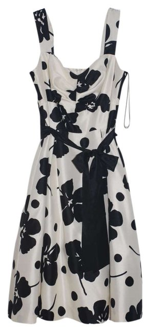 Preload https://item5.tradesy.com/images/jessica-howard-whiteblack-flowers-church-office-above-knee-short-casual-dress-size-4-s-267114-0-0.jpg?width=400&height=650