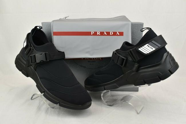 Item - Black 4d3359 Neoprene Strapped Bootie Logo Sneakers 8.5 Us 9.5 Shoes