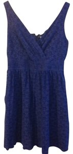 Robbie Bee short dress blue Summer Eyelet on Tradesy