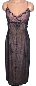 Papell Boutique Beaded Cocktail Silk Dress