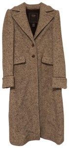 Coach Wool Leather Designer Trench Coat