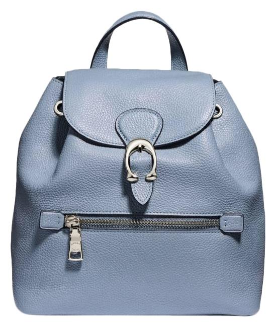 Item - Evie 22 Baby Blue Leather Backpack