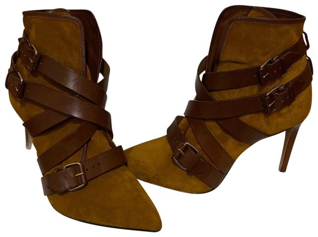Item - Brown/Tan Jackie Buckled Strap Boots/Booties Size EU 38 (Approx. US 8) Regular (M, B)