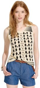 Madewell Cascade Embroidered Dimond Motive Size Xs Top Ivory