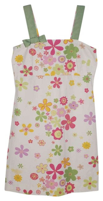 Other short dress Multi Vintage 60's Ribbon Bow Flower Green Pink Yellow Purple on Tradesy