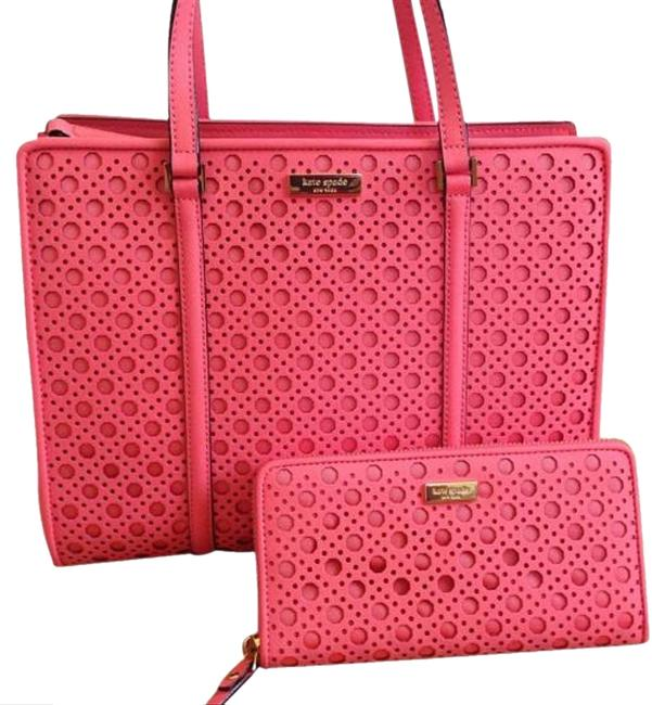 Item - Newbury Lane Caining Romy and Matching Wallet Saffiano Pink Leather Tote