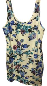 Forever 21 short dress Floral (White, Blue) Bodycon Summer on Tradesy