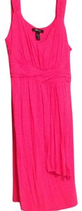 New York & Company short dress Fuchsia on Tradesy