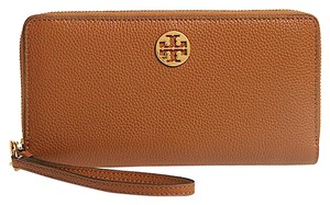 Tory Burch Everly Leather Passport Continental (Light Umber) Le Wa W