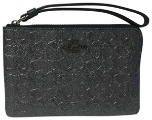Coach Patent Leather Small Wristlet in PEWTER