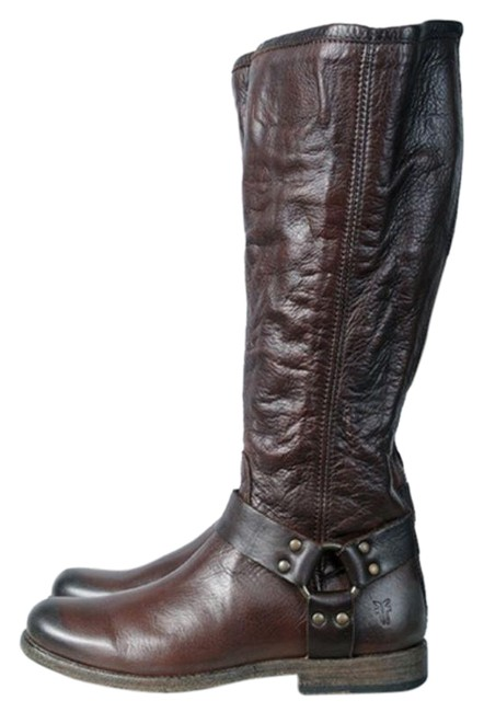 Item - Dark Brown Phillip Harness Tall Boots/Booties Size US 6.5 Regular (M, B)