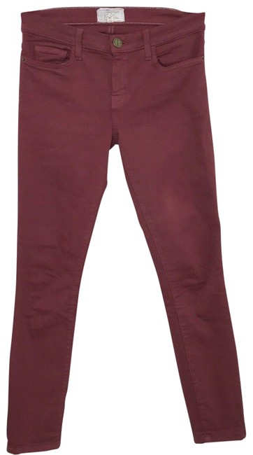 Item - Cabernet Coated  The Stiletto Skinny Jeans Size 27 (4, S)