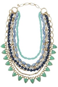 Stella & Dot Sutton Necklace- Green Stone