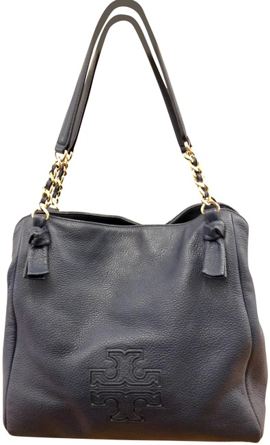 Item - Harper Royal Navy Leather Tote