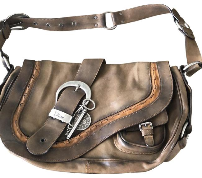 Item - Gaucho Saddle Brown Lambskin Leather Hobo Bag