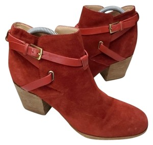 Belle by Sigerson Morrison Suede Brick Red Boots