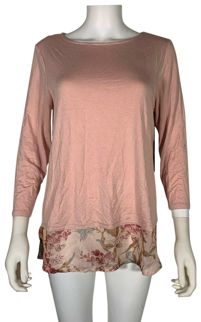 Item - Pink Wildflower Floral Blush M New 257 Blouse Size 8 (M)
