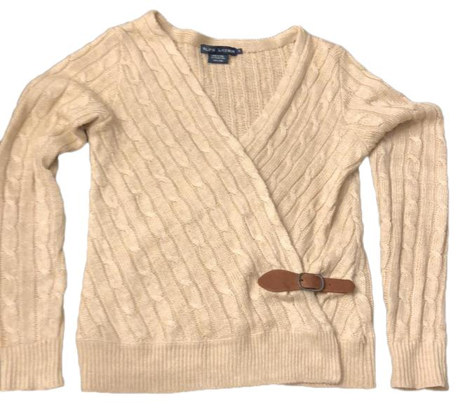 Item - With Leather Buckle Golden Beige Sweater