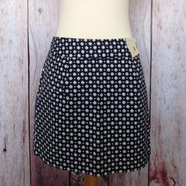 Old Navy Nwt Mini Skirt Navy Blue Printed