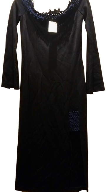 Item - Dark Blue With Looped Ropes Long Night Out Dress Size 6 (S)