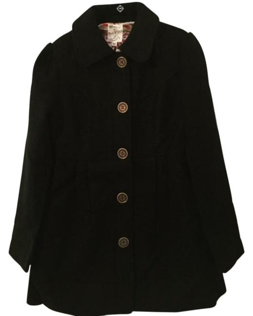Tulle Black With Pleats (11) Coat Size 8 (M) Tulle Black With Pleats (11) Coat Size 8 (M) Image 1