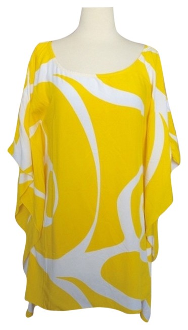 Item - Yellow Kaftan Beach Pool Cover-up/Sarong Size OS (One Size)