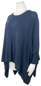 Vera Wang Lagenlook Poncho Poncho Cable Knit Tunic