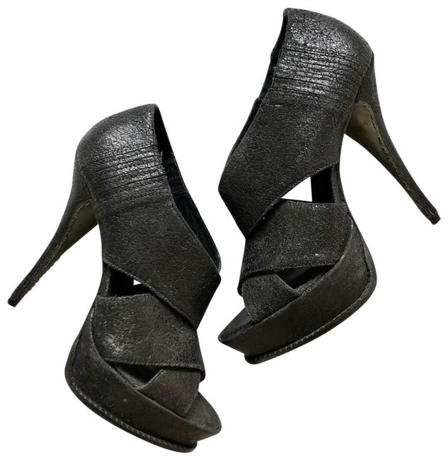 Elizabeth and James Black Milla E-milla Heel Platforms Size US 10 Regular (M, B) Elizabeth and James Black Milla E-milla Heel Platforms Size US 10 Regular (M, B) Image 1