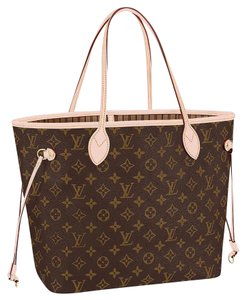 Louis Vuitton Neverfull Mm New With Tags Tote in Monogram beige
