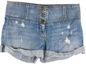Carmar Exposed Buttons Denim Shorts-Light Wash