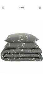Calvin Klein Green/ Gray King Comforter and Two King Shams In Packaging. Other