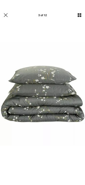 Item - Green/ Gray King Comforter and Two King Shams In Packaging. Other